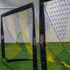 Striped black and yellow soccer goal 4x6