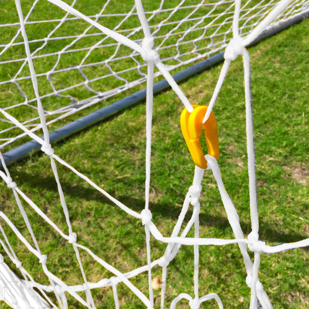 White 8x24 Twisted Soccer Net Set