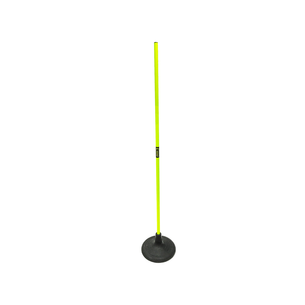 Jumbo Black Turf Rubber Base with Speed Pole | Soccer Training Equipment Accessories