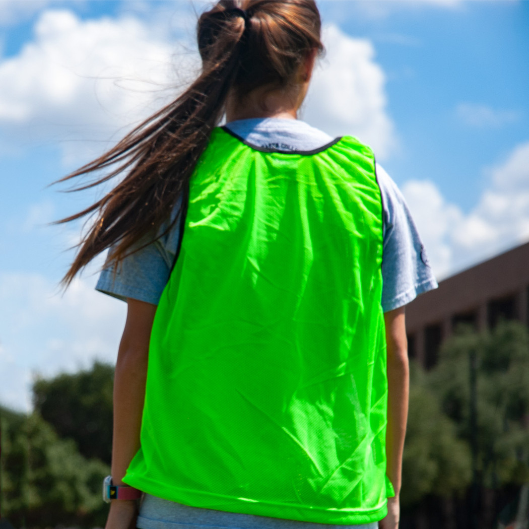 Premium Soccer Bibs Set Green back view