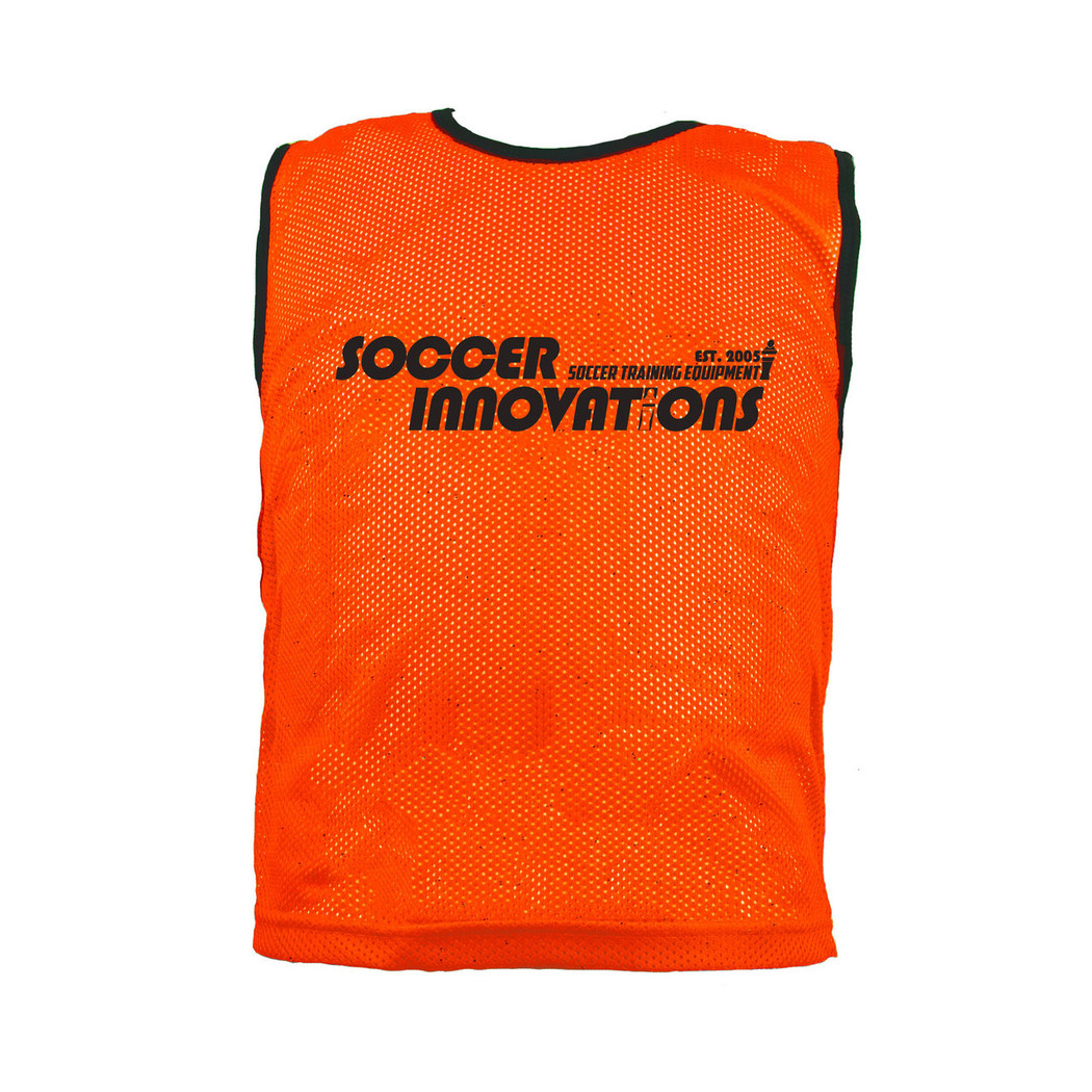 Premium Soccer Bibs Adult Set Neon Orange| Soccer Training Equipment Bibs & Accessories
