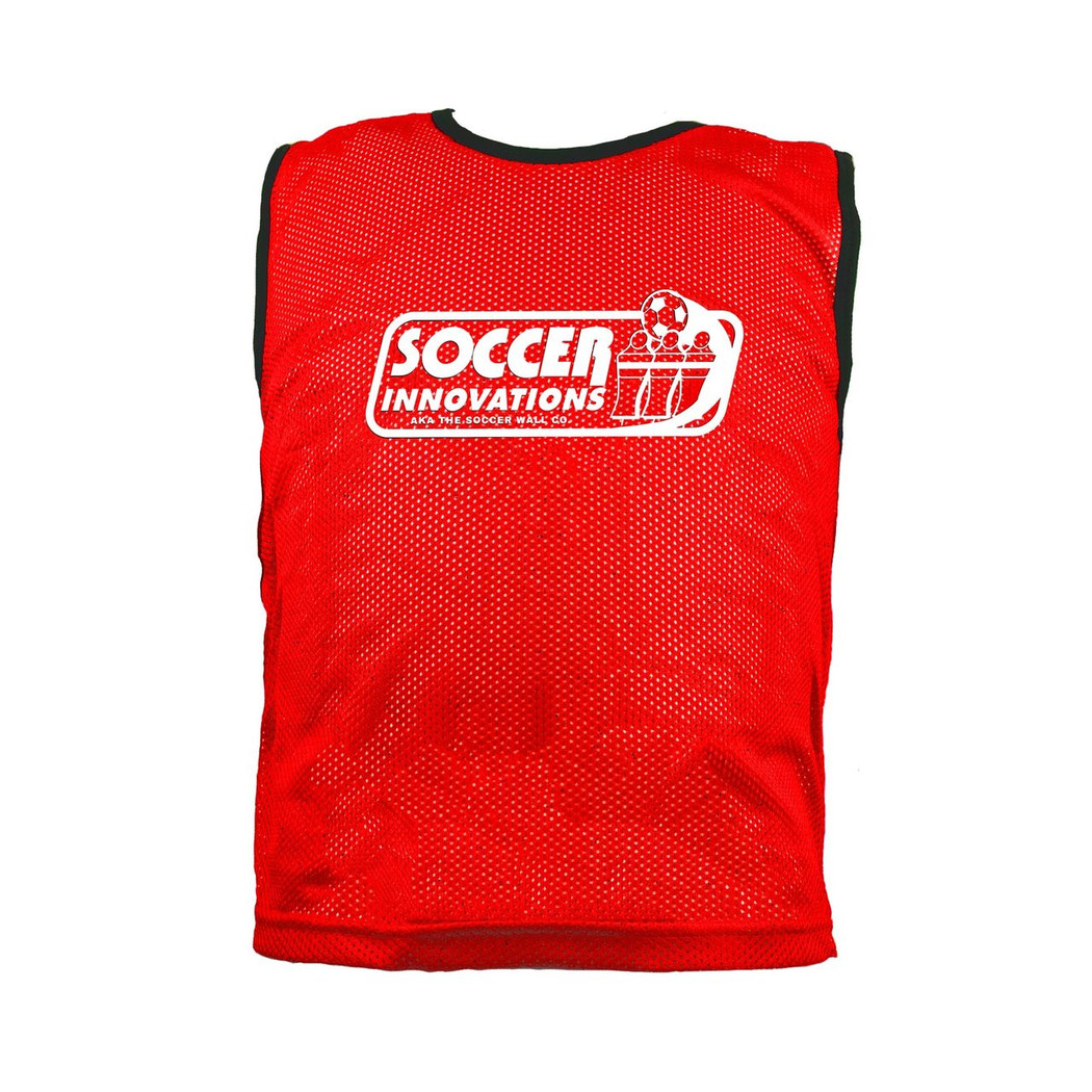 Premium Soccer Bibs Youth Set Red | Soccer Training Equipment Bibs & Accessories