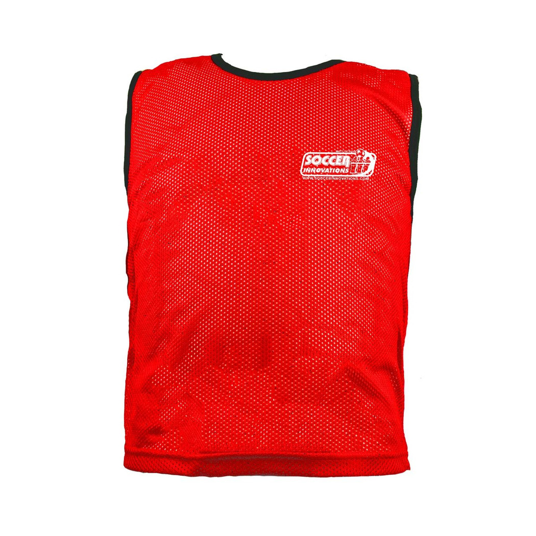 Premium Soccer Bibs Adult Set Red | Soccer Training Equipment Bibs & Accessories