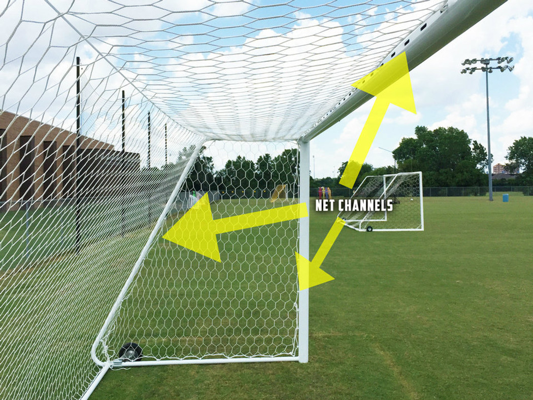 Regulation 6x18 Premier Pro Match Soccer Goal | Soccer Training Equipment