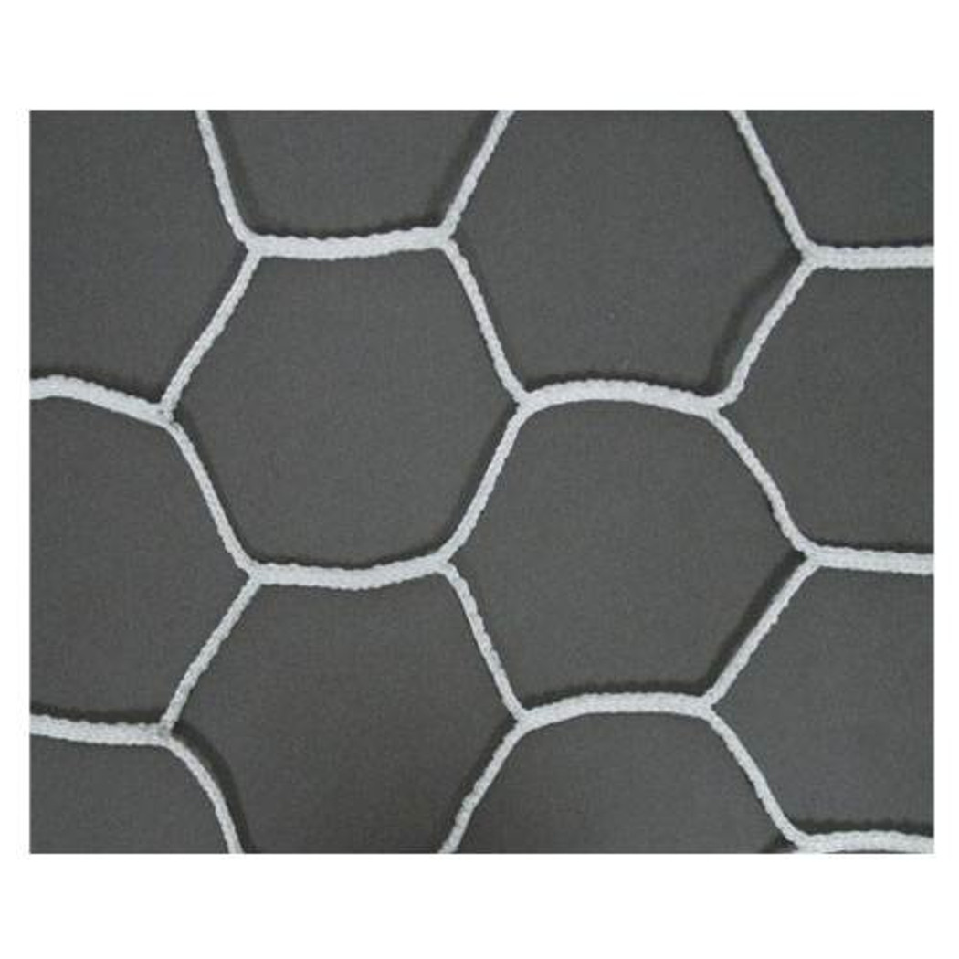 Hexagonal Black and White Goal Net
