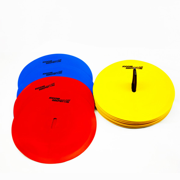 Flat Dot Marker Cones multi color poly dots