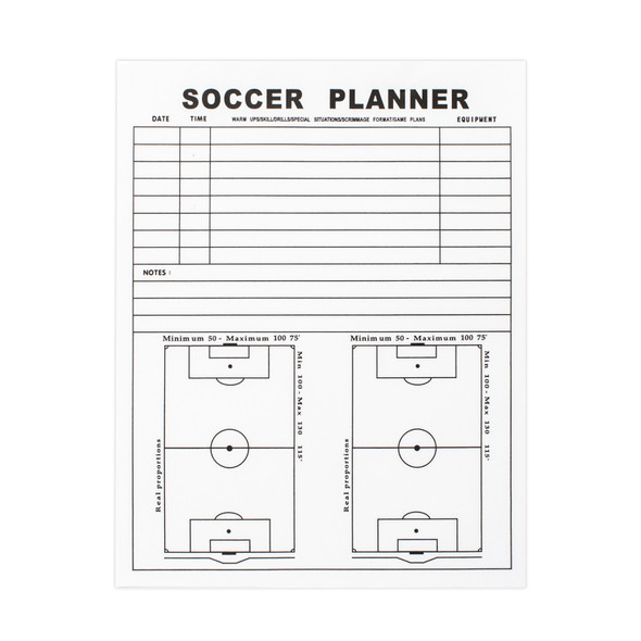 Coaches Folder Note Replacement Planner  | Soccer Equipment Coaches Folders Accessories