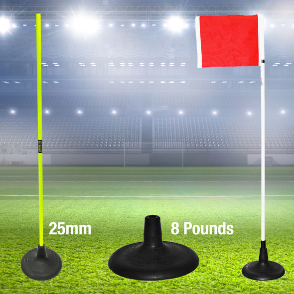Jumbo Black Turf Rubber Base | Soccer Training Equipment Accessories