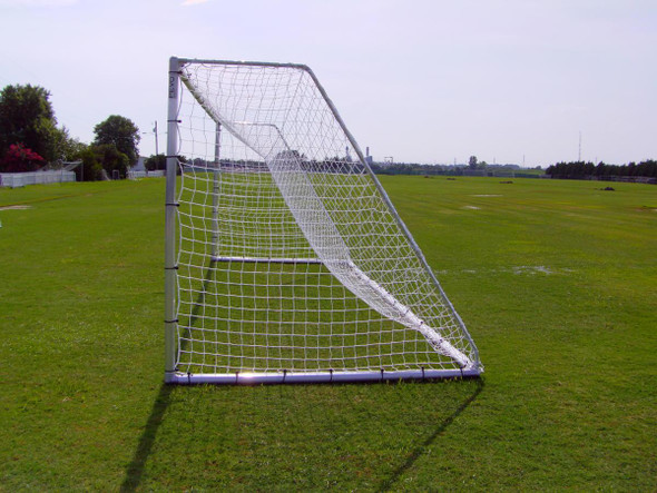 PEVO Soccer Goal with net Economy Series 8x24 goal back side view