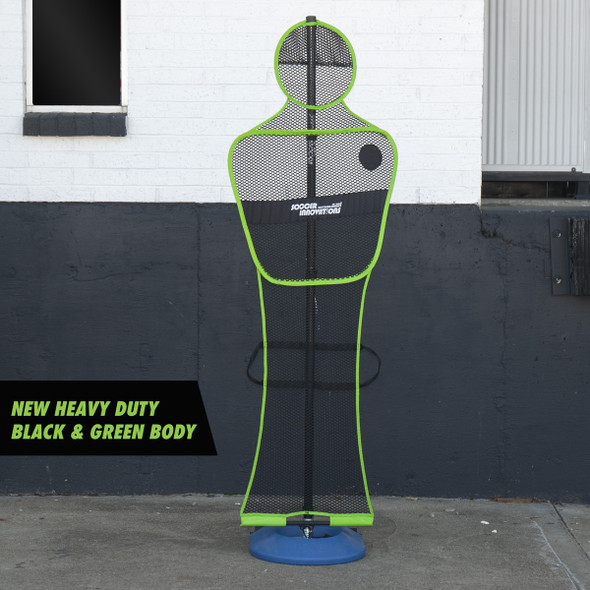 Soccer training mannequin with wheels