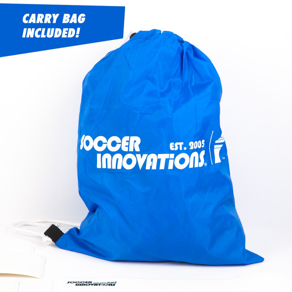 Soccer field flat markers carry bag in white