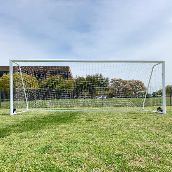 Regulation 6.5x18.5 Premier Pro Soccer Goal Posts | Soccer Training Equipment Regulation Soccer Goals