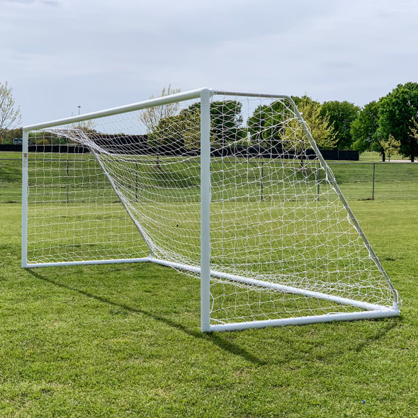 Regulation 6.5x18.5 Premier Park Soccer Goal Posts | Soccer Training Equipment Regulation Soccer Goals