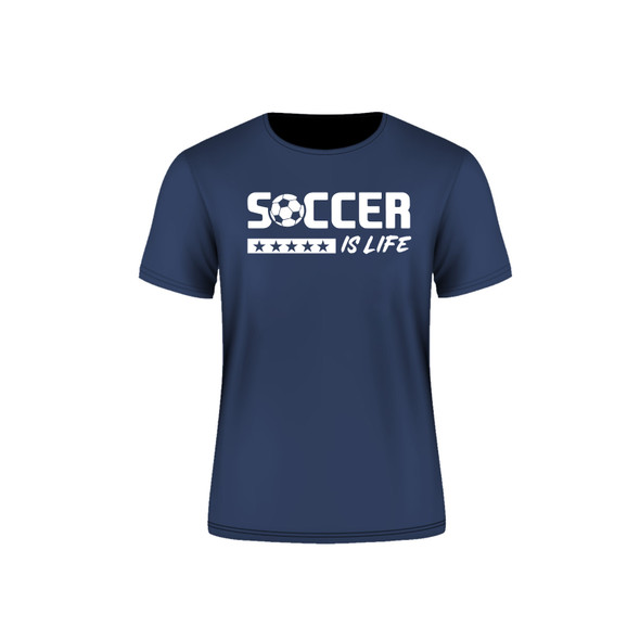 Indigo Arsenal Soccer is Life T-Shirt