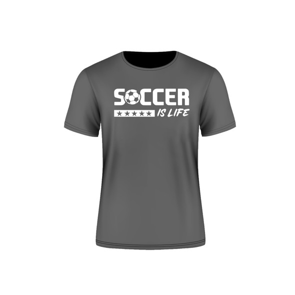 Grey Arsenal Soccer is Life T-Shirt