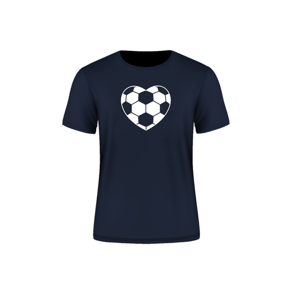 Navy Arsenal Soccer Heart T-Shirt