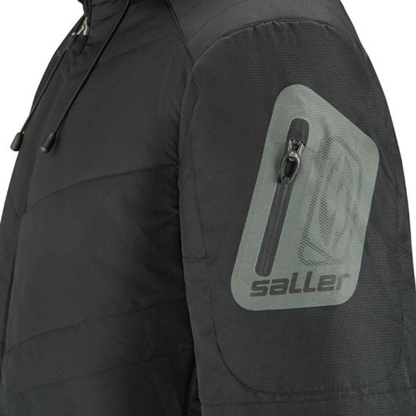 winter jacket shoulder view