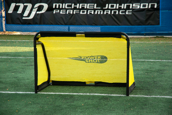 3x5 Aluminum QuickFold Soccer Goal - black and yellow