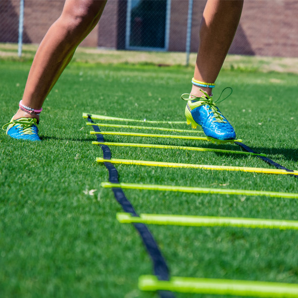 Speed and agility yellow slat ladder