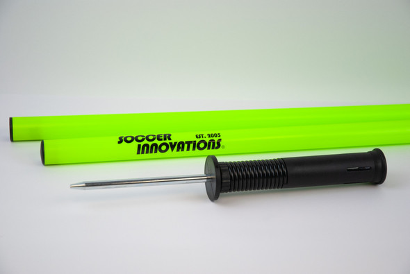 3-in-1 Collapsing Speed & Agility Pole with Spring Base and Turf Base