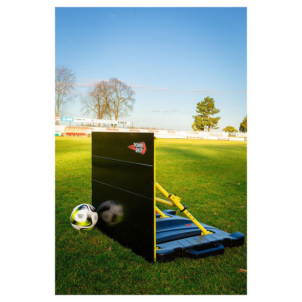 90 degree Powershot Rebounder Wall with Ramp for soccer