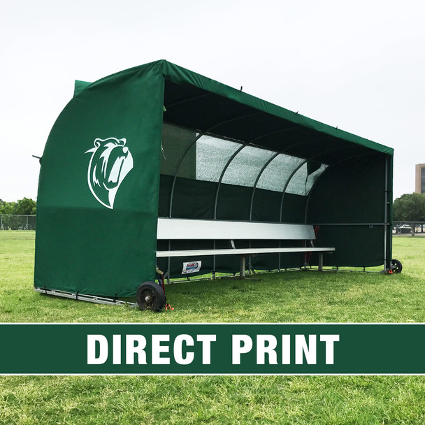 MVP III Stadium Sports Team Shelter Bench Cover | Soccer Innovations Sport Bench Shelter Covers