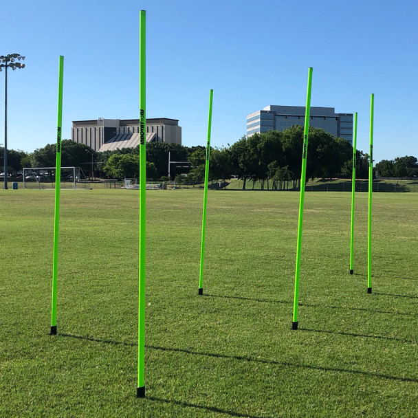 Neon green Speed & Agility Pole Set with Free Carry Bag | Speed and Agility Soccer Training Equipment
