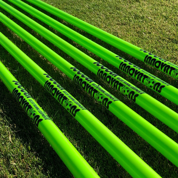 Green Speed & Agility Pole Set with Free Carry Bag | Speed and Agility Soccer Training Equipment