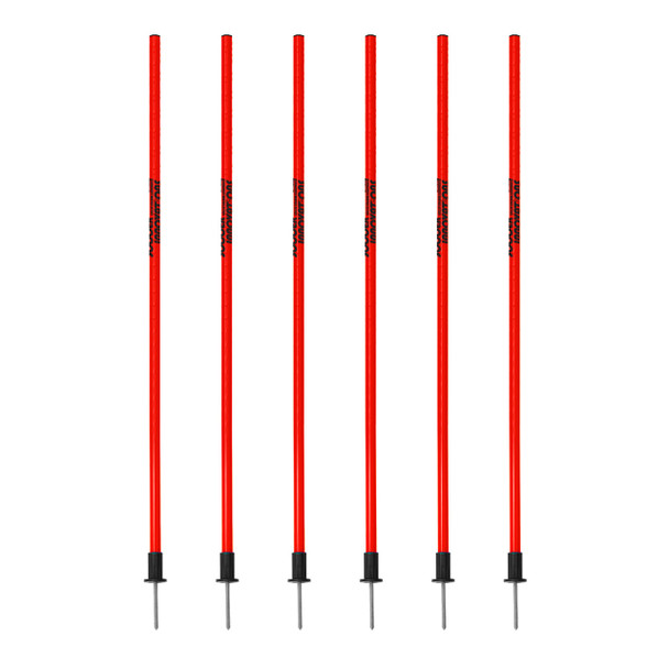 Set of 6 red Speed & Agility Pole Set withCarry Bag | Speed and Agility Soccer Training Equipment