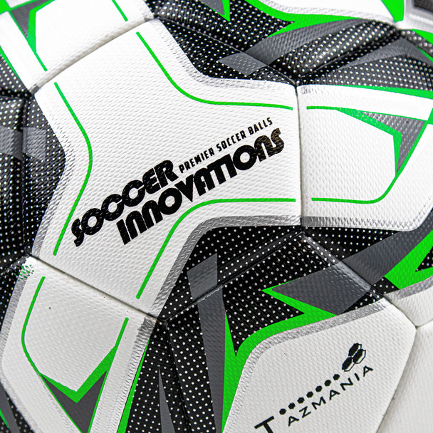 Tazmania Thermo Match Soccer Ball Front Texture Logo