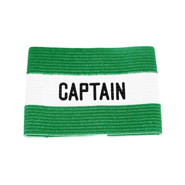 Green Captains Band with White Stripe