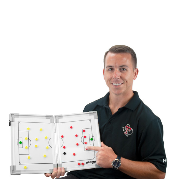 Magnetic Hinge Soccer Tactic Coaching Board Coaches View