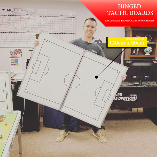 120x90cm hinged folding soccer magnetic tactic board actual size