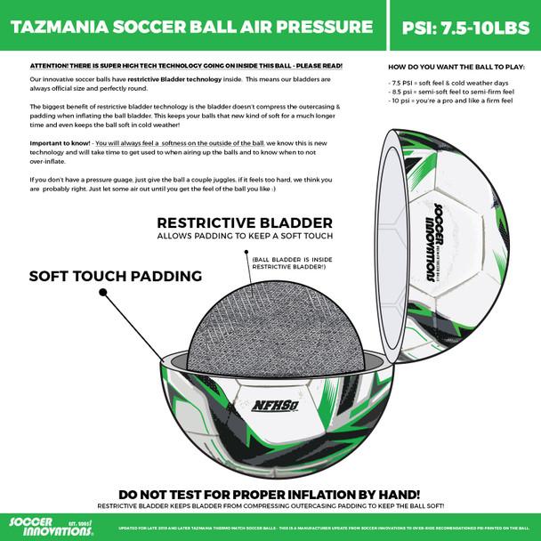 Tazmania Ball Specifications