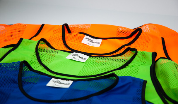 soccer pinnies - 3 colors with stripes
