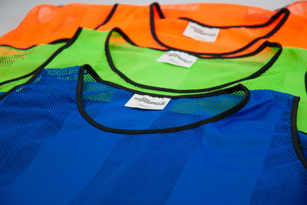 Striped Premier Soccer Training Bib - Orange, Blue and Green Color Options