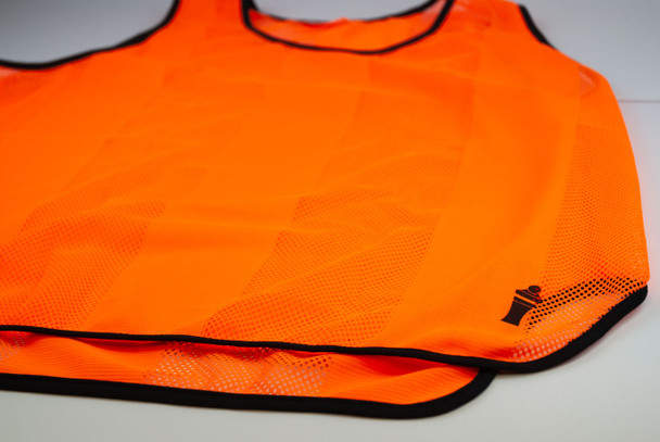 Neon orange soccer training vest