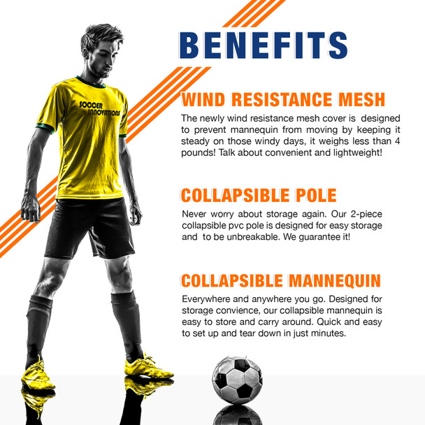 The Soccer Wall Turf Mannequin Benefits