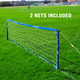 Soccer Wall Club Free Kick Mannequin Tennis Net