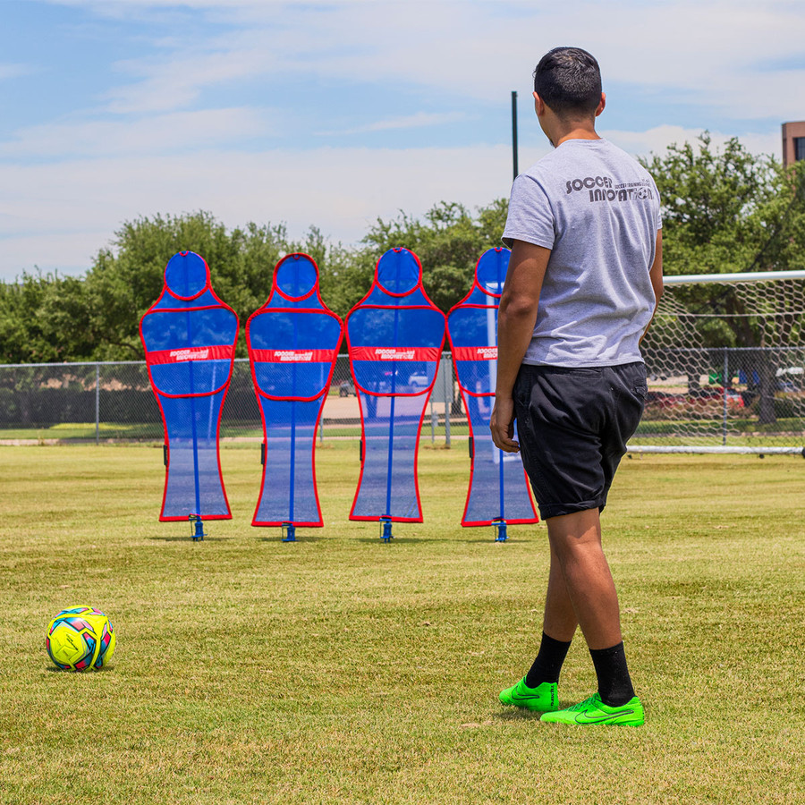 Soccer Wall Pro Free Kick Mannequin Blue Set