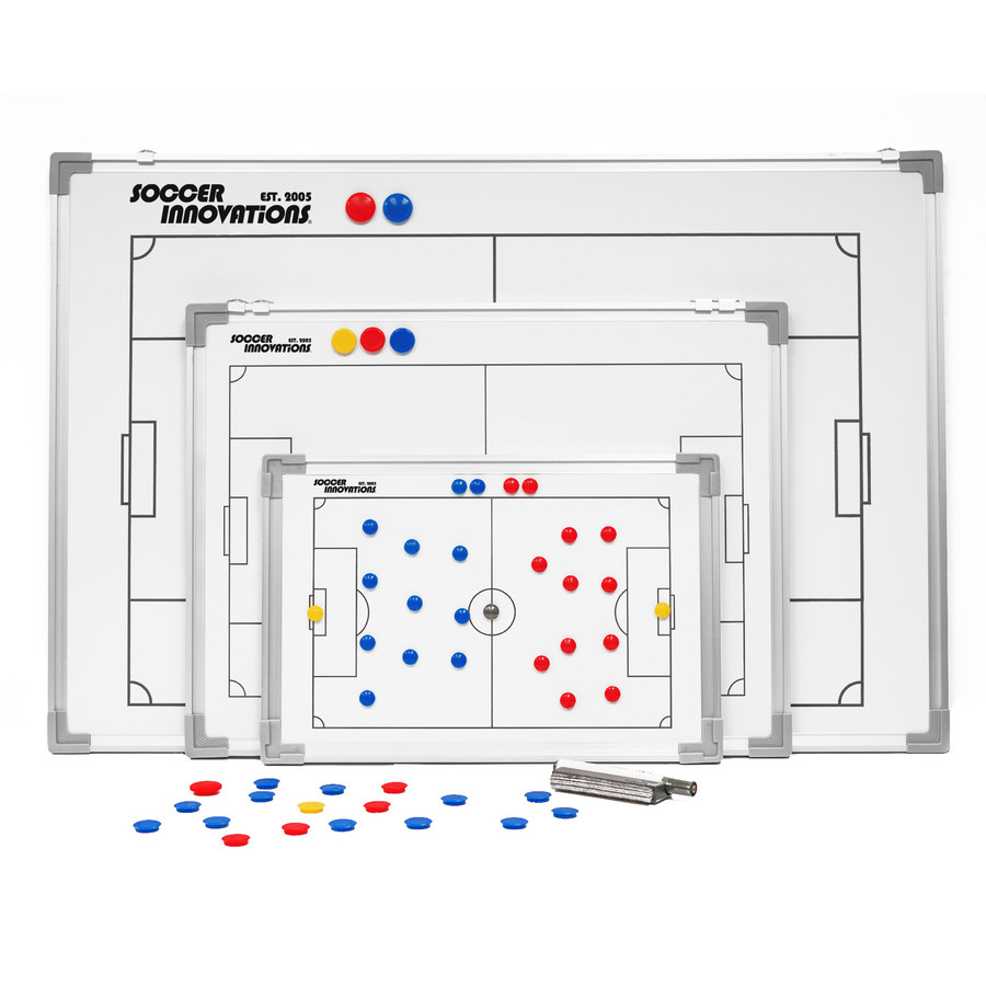 Magnetic 2 sided soccer tactic boards