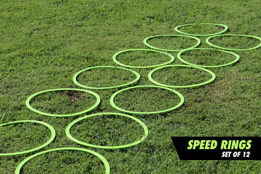 Set of 12 Speed and Agility Rings