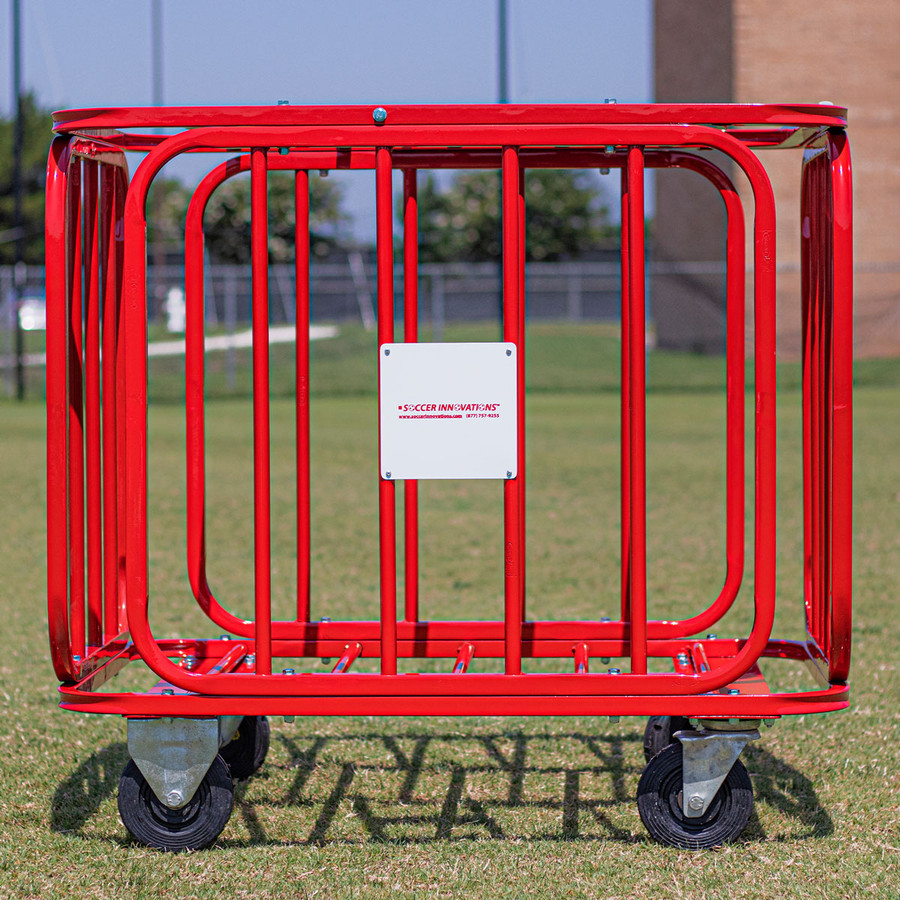 Big Red Barcelona Ball Cart | Soccer Equipment Ball Carts