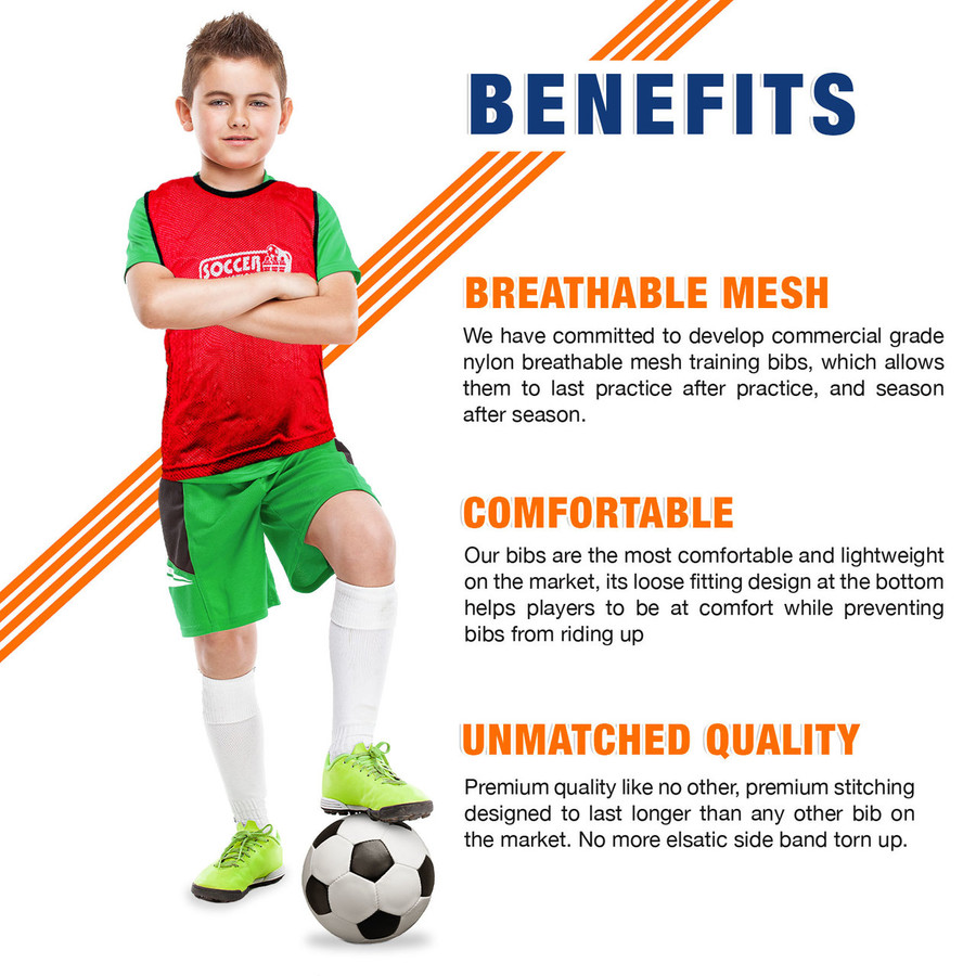 Premium Soccer Bibs Set Benefits