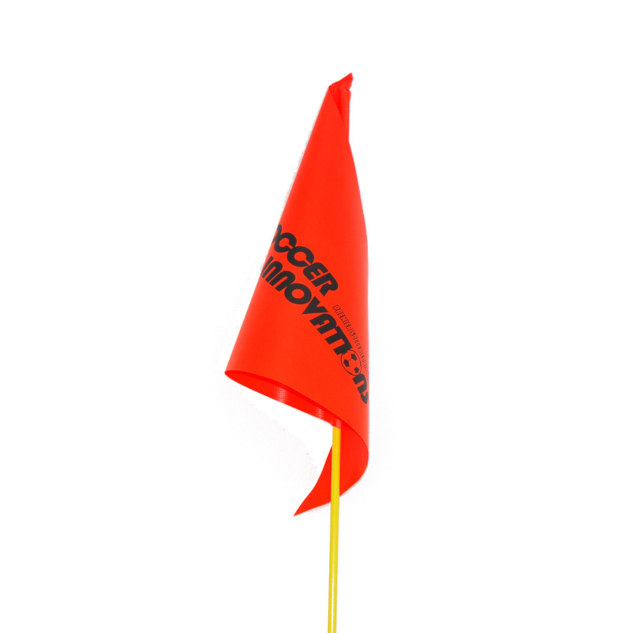 Orange Fiberglass Soccer Corner Flag Close up