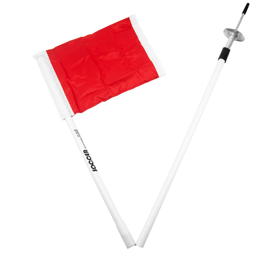 Collapsing Corner Flag Set with Spring Spike | Soccer Training Equipment Corner Flags