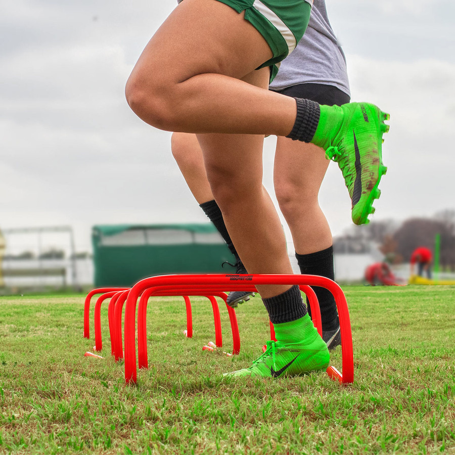 """9"""" Red Soccer Hurdles   Speed and Agility Soccer Training Equipment"""