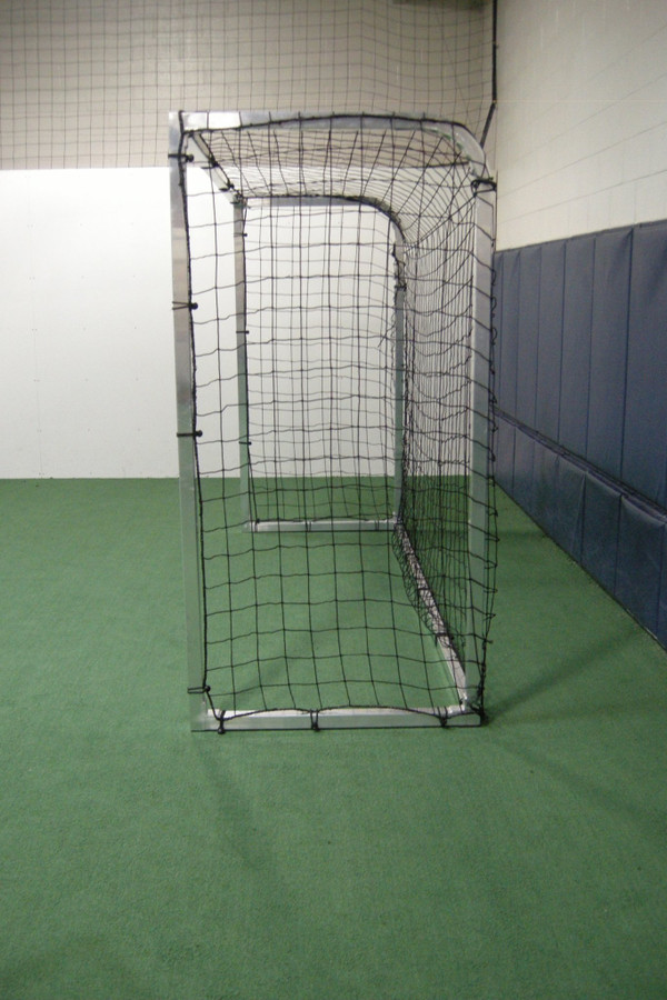 PEVO Practice Futsal Soccer Goal - 2in steel frame Side View
