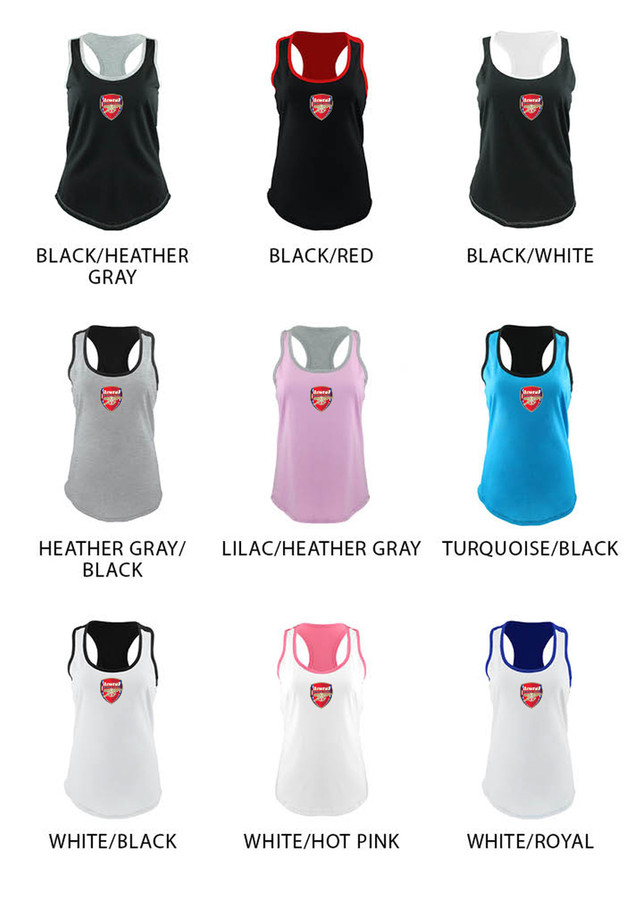 Arsenal Racerback Tank Color Options