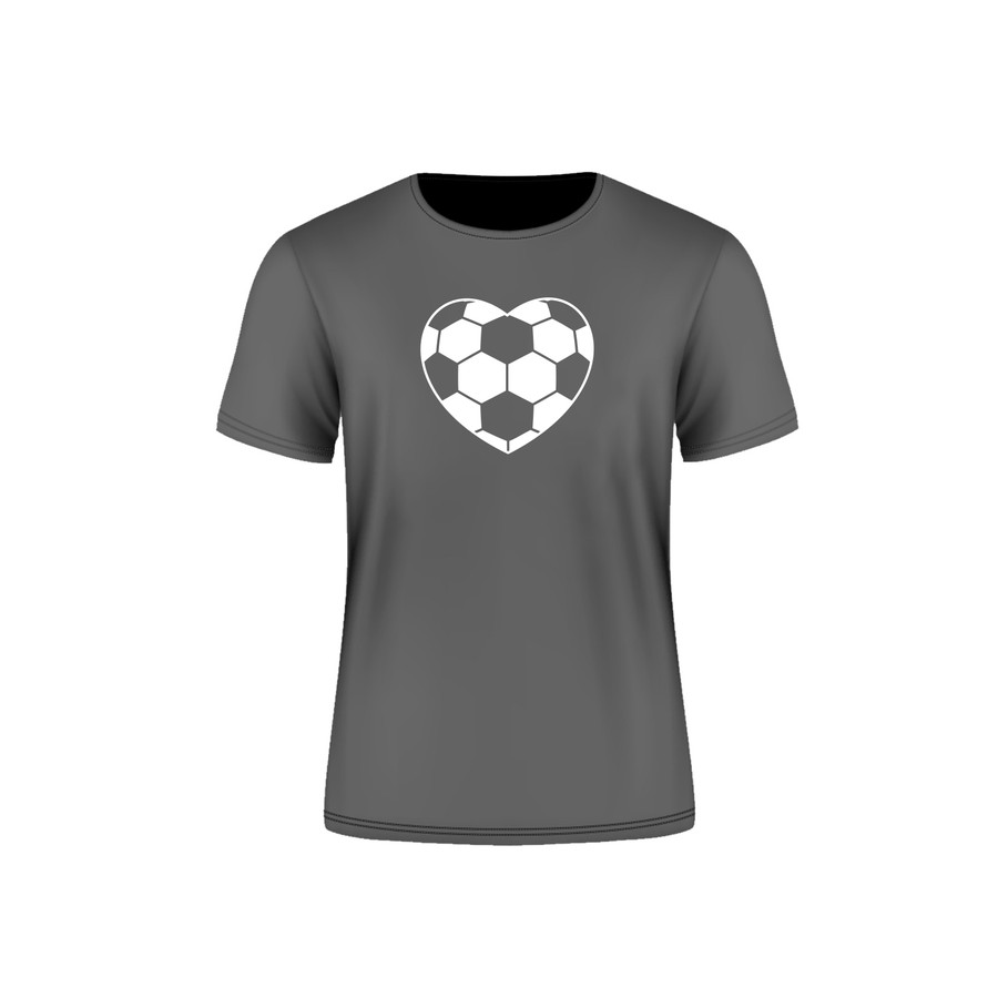 Grey Arsenal Soccer Heart T-Shirt